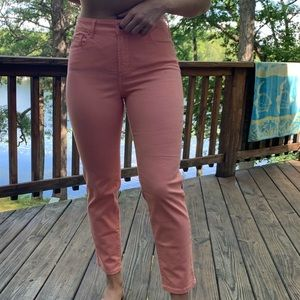 Peach Ankle Length Jeans 🌷